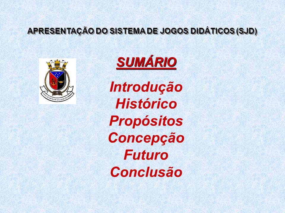 APRESENTAÇÃO DO SISTEMA DE JOGOS DIDÁTICOS (SJD)