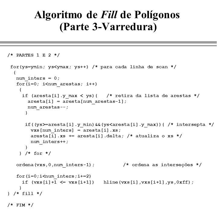 Algoritmo de Fill de Polígonos (Parte 3-Varredura)