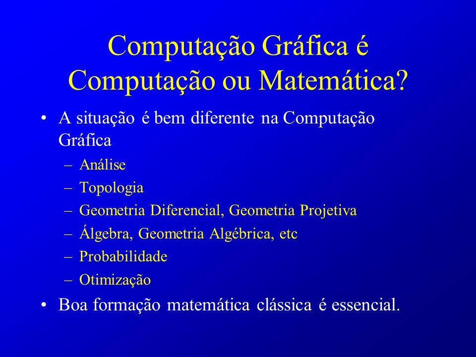 Computação Gráfica é Computação ou Matemática
