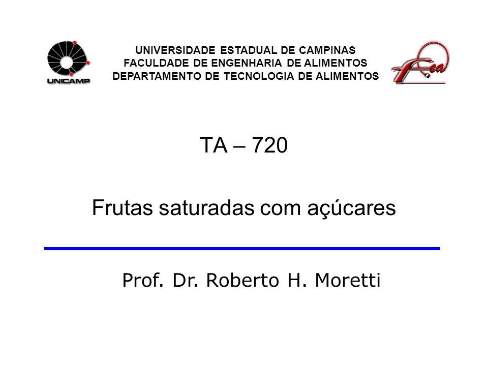 TA – 720 Frutas saturadas com açúcares