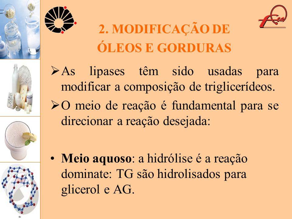 2. MODIFICAÇÃO DE ÓLEOS E GORDURAS