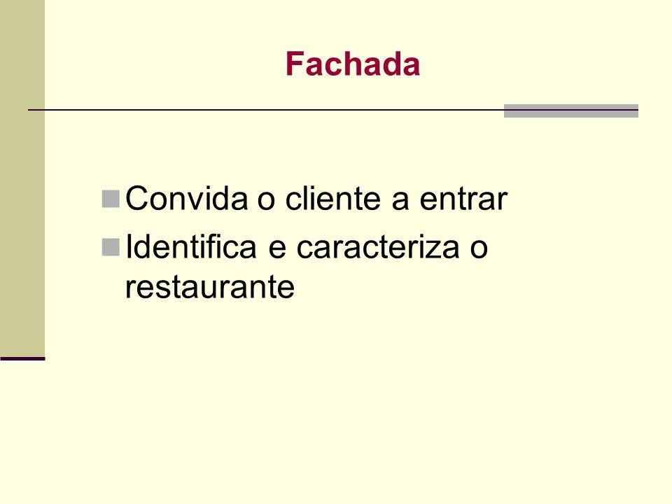 Fachada Convida o cliente a entrar Identifica e caracteriza o restaurante