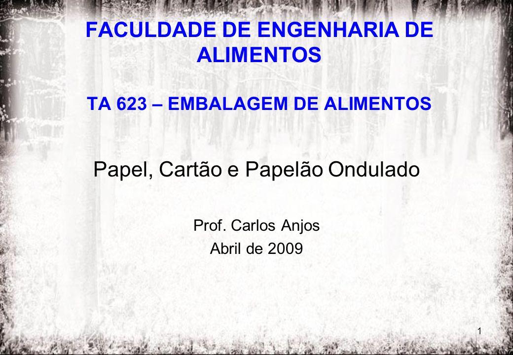 FACULDADE DE ENGENHARIA DE ALIMENTOS TA 623 – EMBALAGEM DE ALIMENTOS