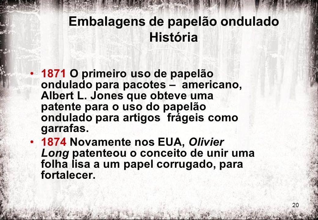 Embalagens de papelão ondulado História