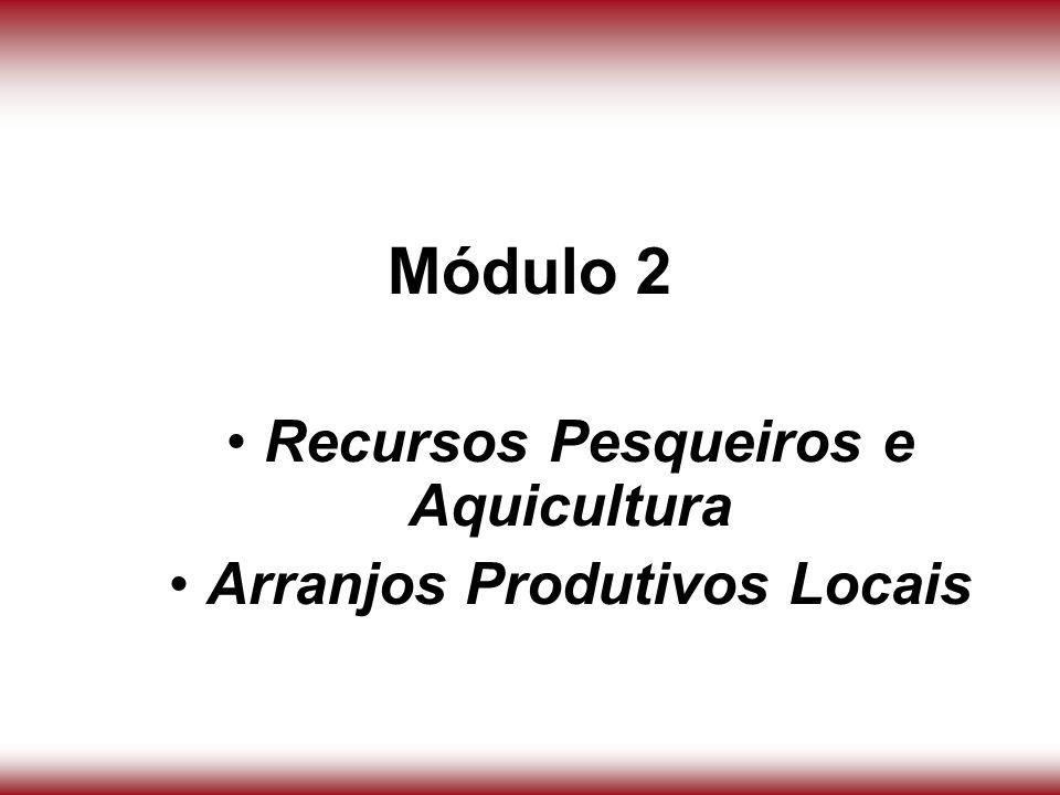 Recursos Pesqueiros e Aquicultura Arranjos Produtivos Locais
