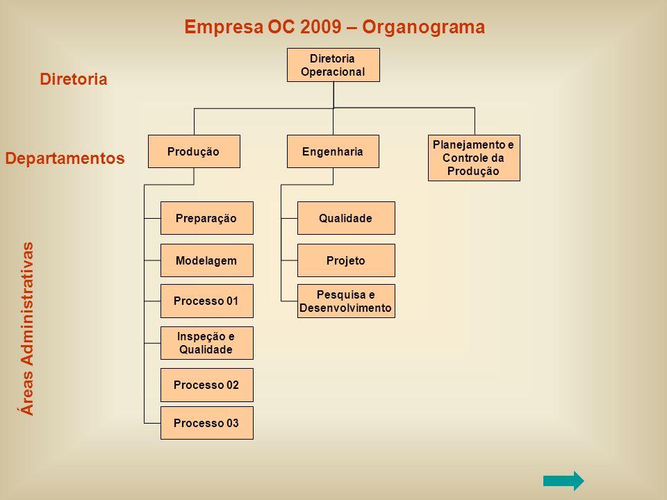 Empresa OC 2009 – Organograma