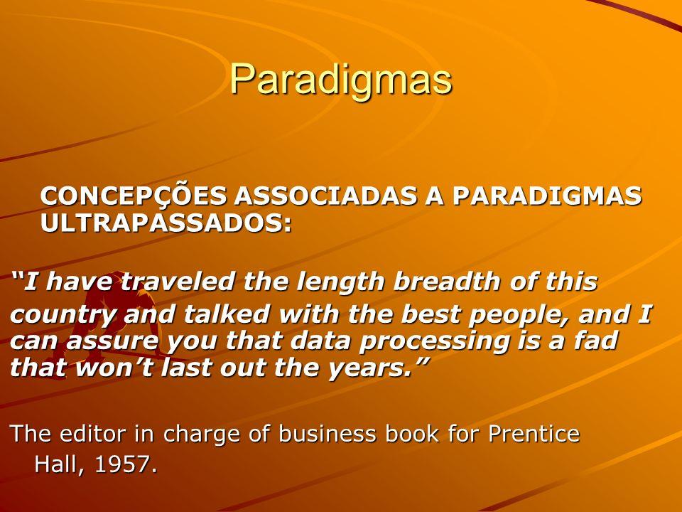 Paradigmas CONCEPÇÕES ASSOCIADAS A PARADIGMAS ULTRAPASSADOS: