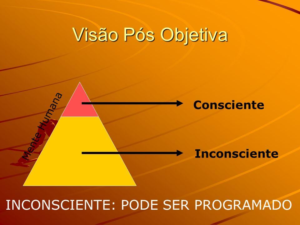 Visão Pós Objetiva INCONSCIENTE: PODE SER PROGRAMADO Consciente