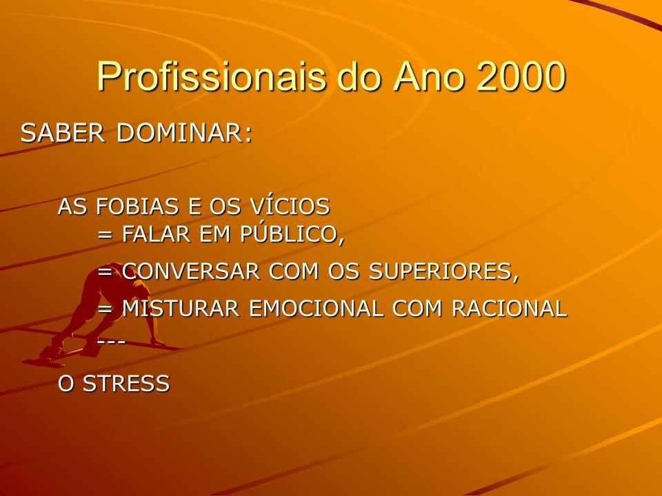Profissionais do Ano 2000 SABER DOMINAR: AS FOBIAS E OS VÍCIOS