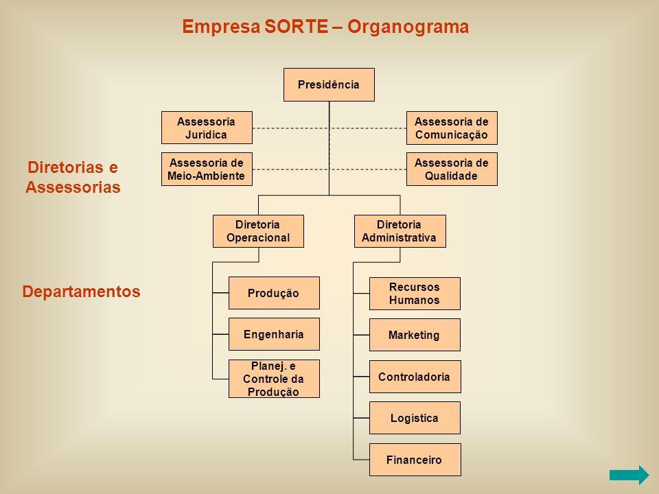 Empresa SORTE – Organograma
