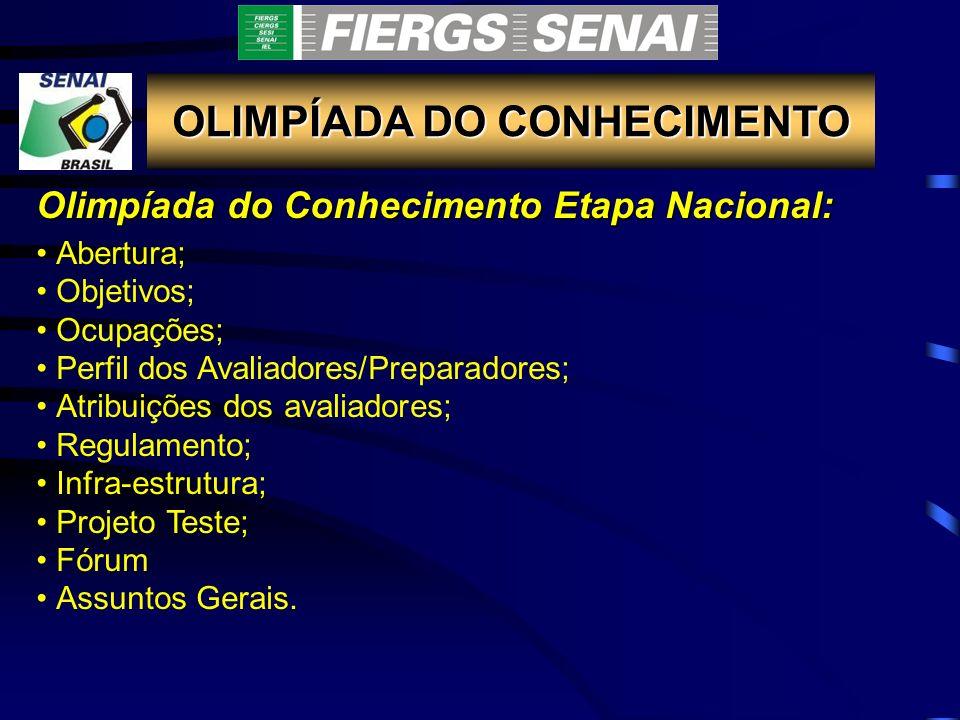 OLIMPÍADA DO CONHECIMENTO