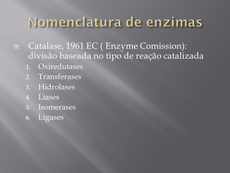 Nomenclatura de enzimas