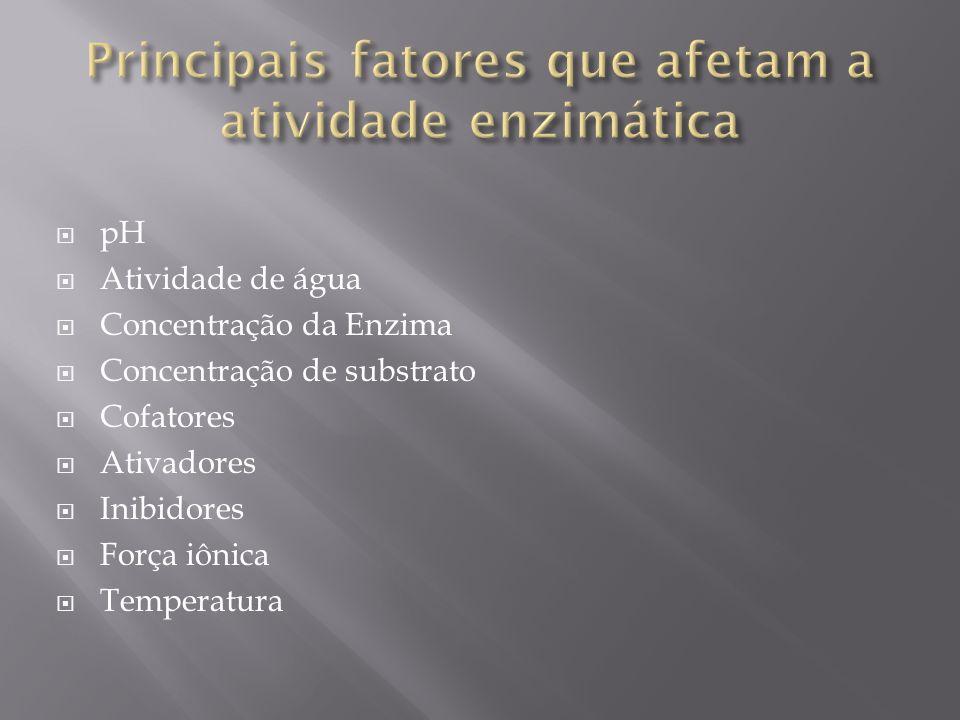 Principais fatores que afetam a atividade enzimática