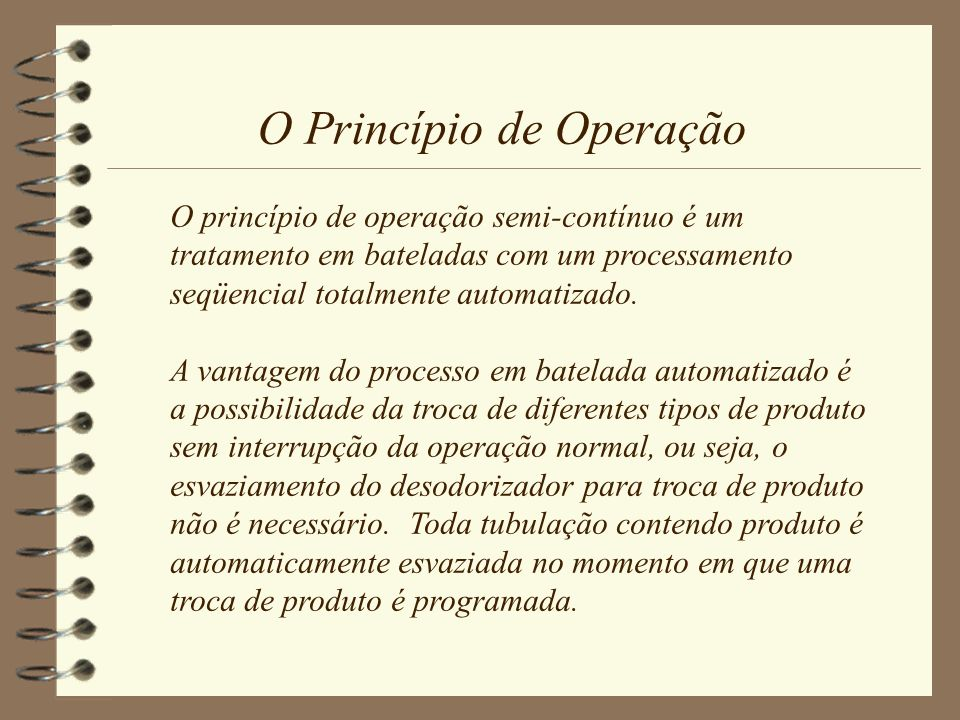 O Princípio de Operação
