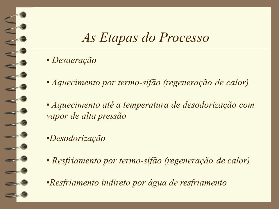 As Etapas do Processo Desaeração