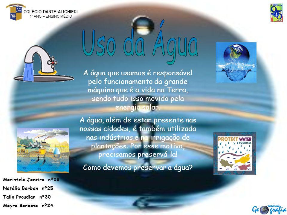 Como devemos preservar a água