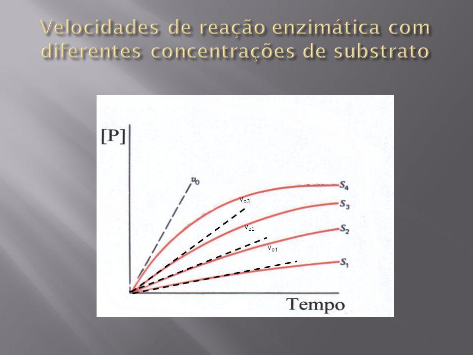 Velocidades de reação enzimática com diferentes concentrações de substrato