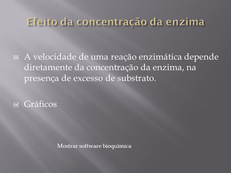 Efeito da concentração da enzima
