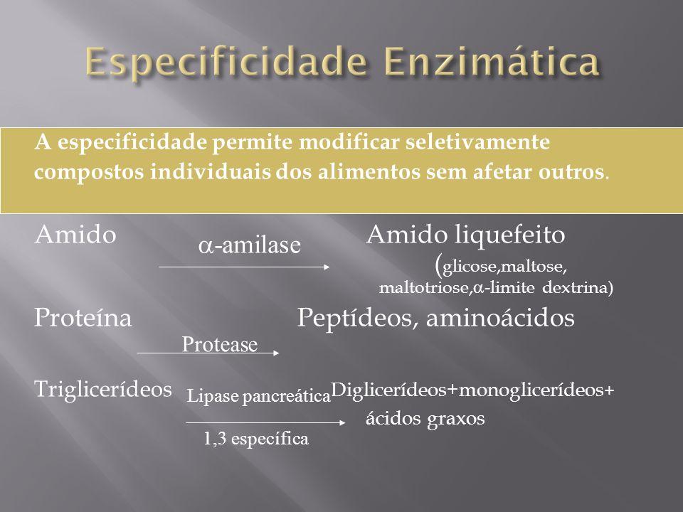 Especificidade Enzimática
