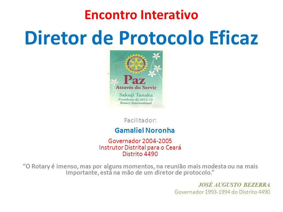 Encontro Interativo Diretor de Protocolo Eficaz