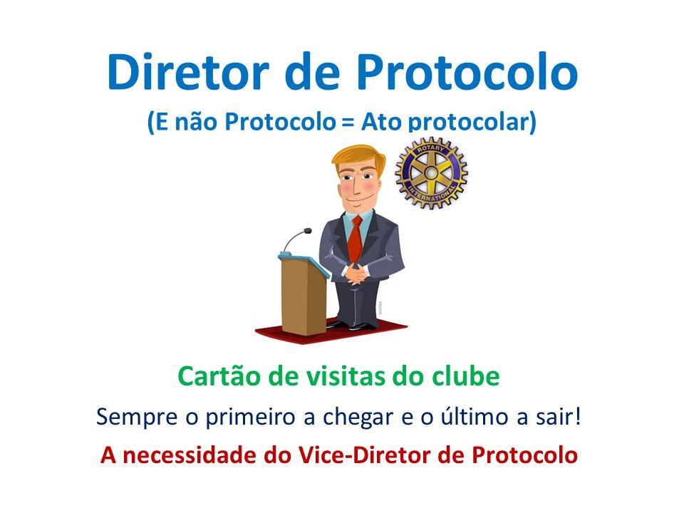 Diretor de Protocolo (E não Protocolo = Ato protocolar)