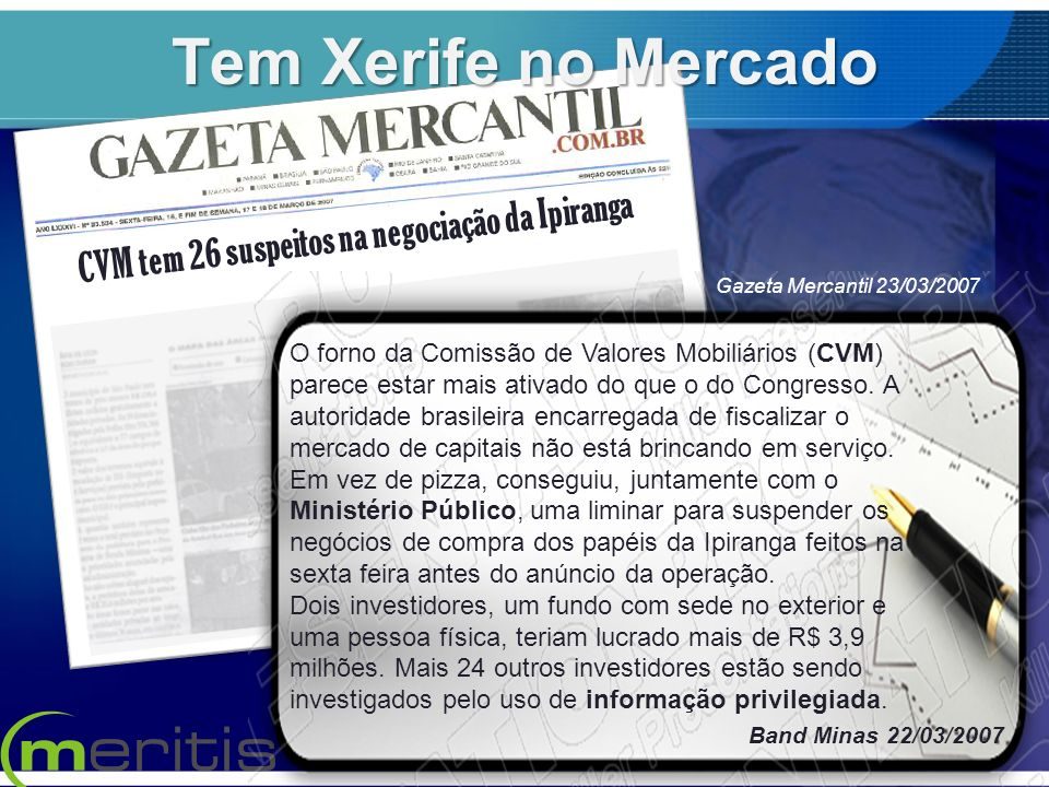 CVM tem 26 suspeitos na negociação da Ipiranga