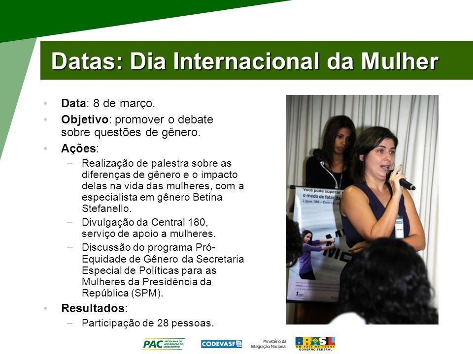 Datas: Dia Internacional da Mulher