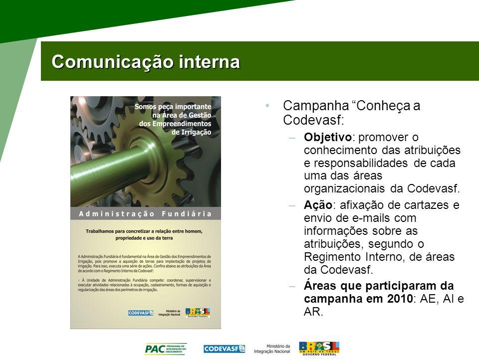 Comunicação interna Campanha Conheça a Codevasf: