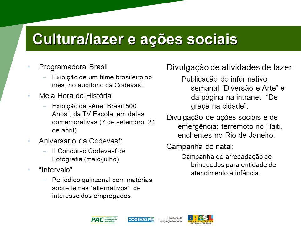 Cultura/lazer e ações sociais