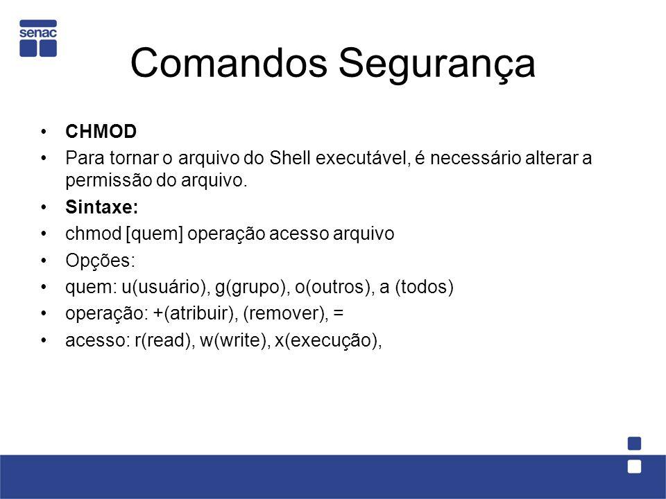 Comandos Segurança CHMOD