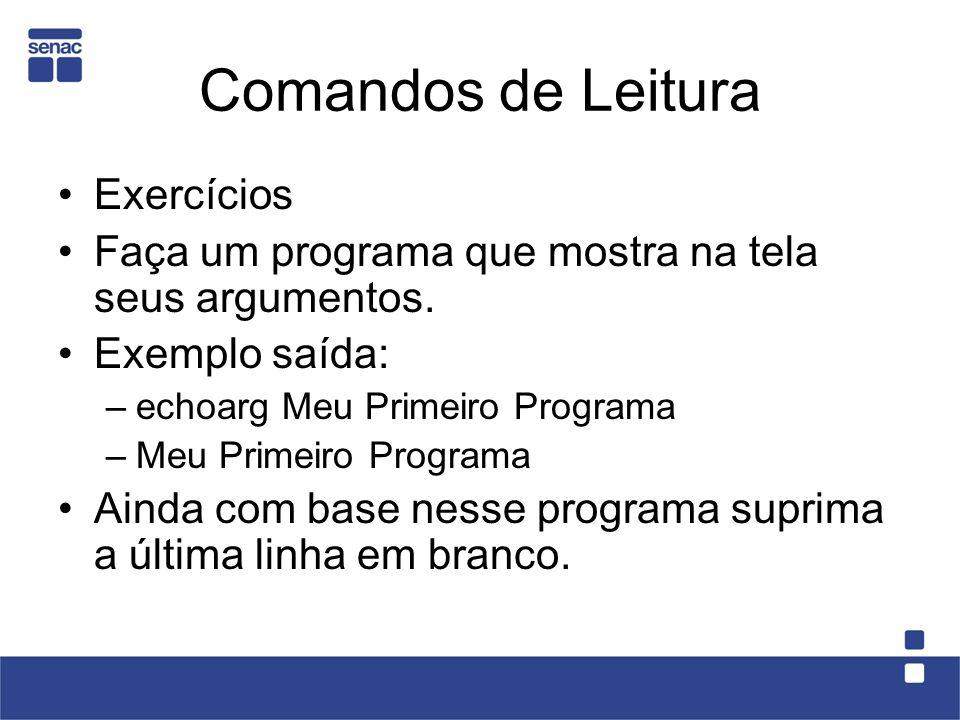 Comandos de Leitura Exercícios