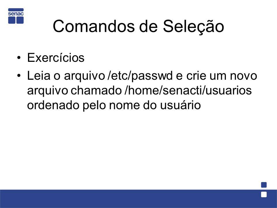 Comandos de Seleção Exercícios