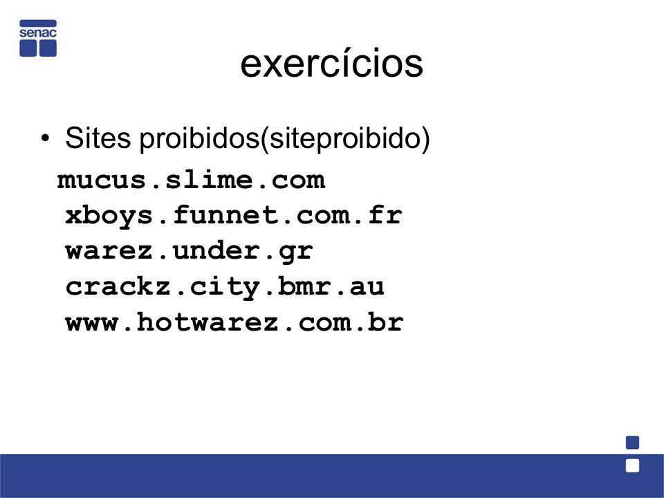 exercícios Sites proibidos(siteproibido)