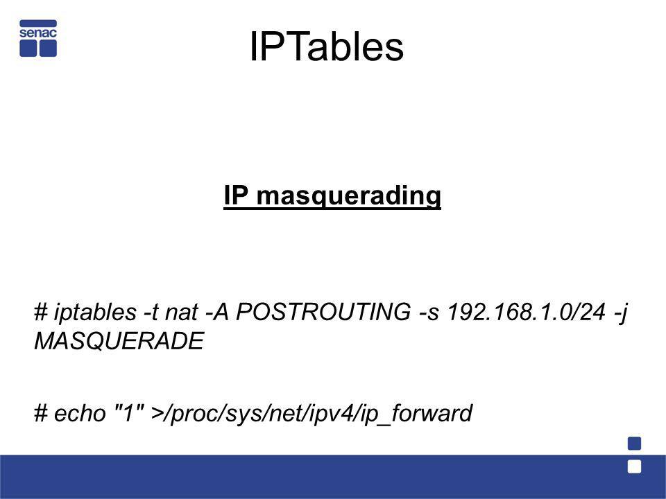 IPTables IP masquerading