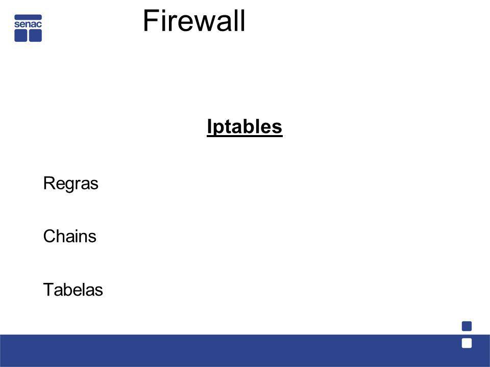 Iptables Regras Chains Tabelas