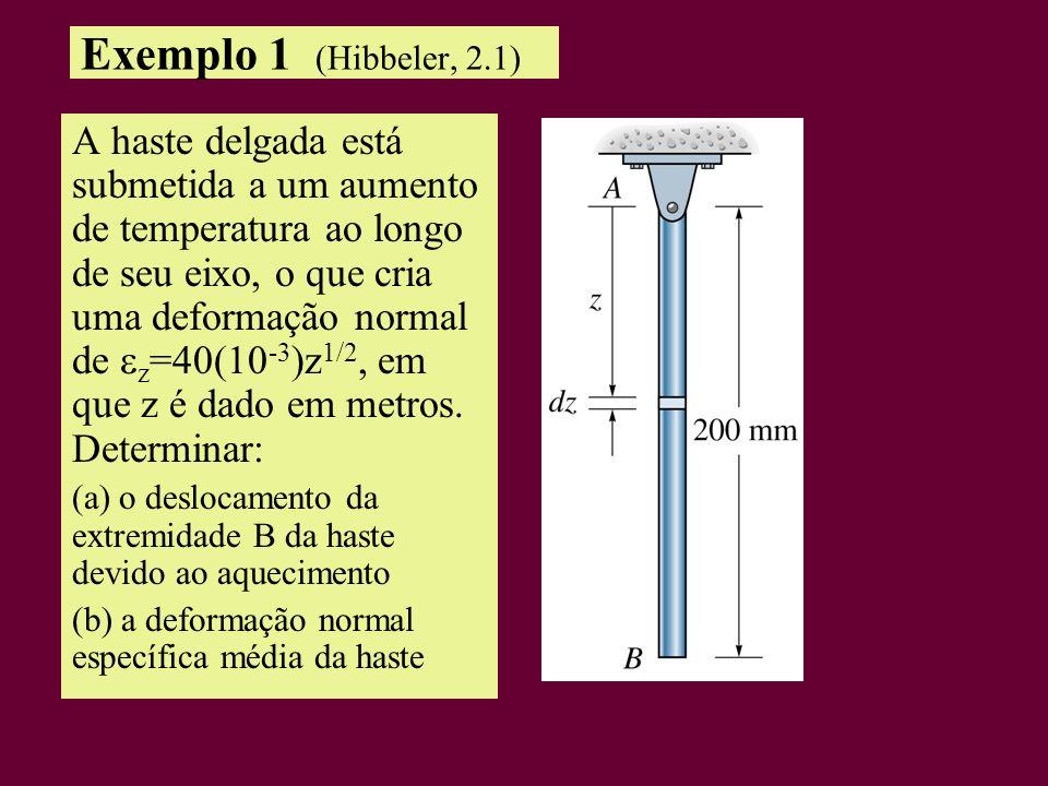 Exemplo 1 (Hibbeler, 2.1)