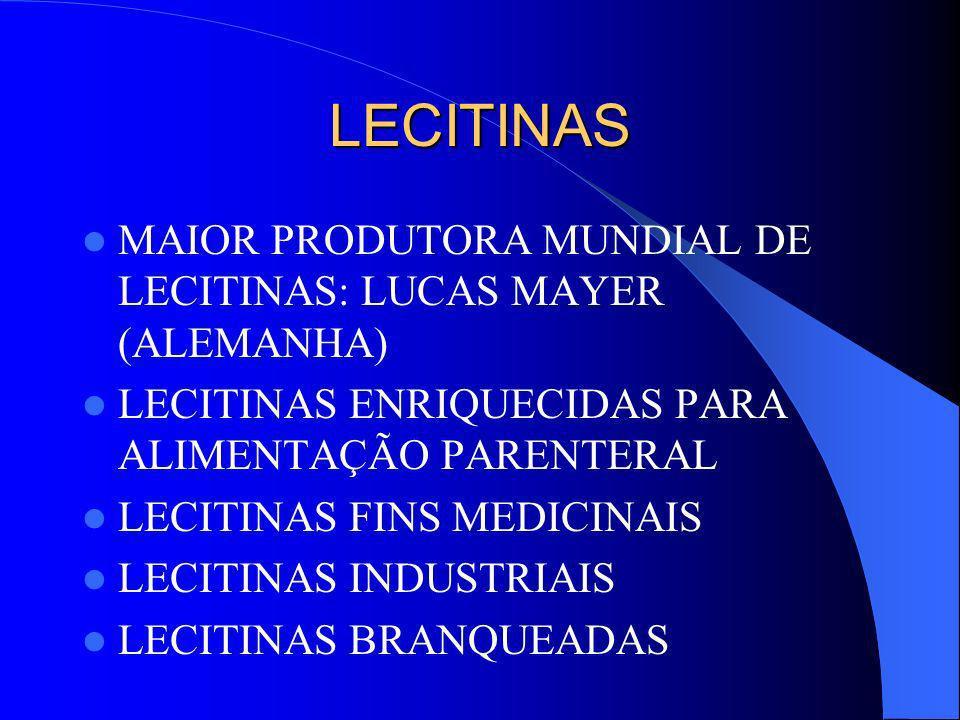 LECITINAS MAIOR PRODUTORA MUNDIAL DE LECITINAS: LUCAS MAYER (ALEMANHA)