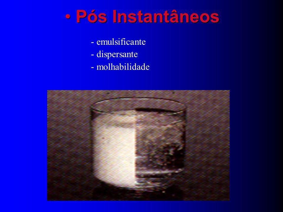 Pós Instantâneos - emulsificante - dispersante - molhabilidade