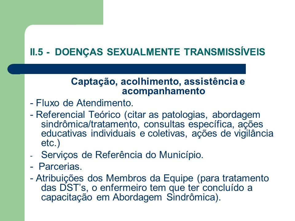 II.5 - DOENÇAS SEXUALMENTE TRANSMISSÍVEIS