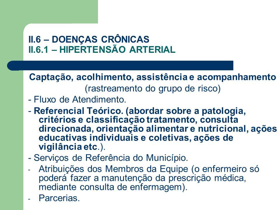 II.6 – DOENÇAS CRÔNICAS II.6.1 – HIPERTENSÃO ARTERIAL