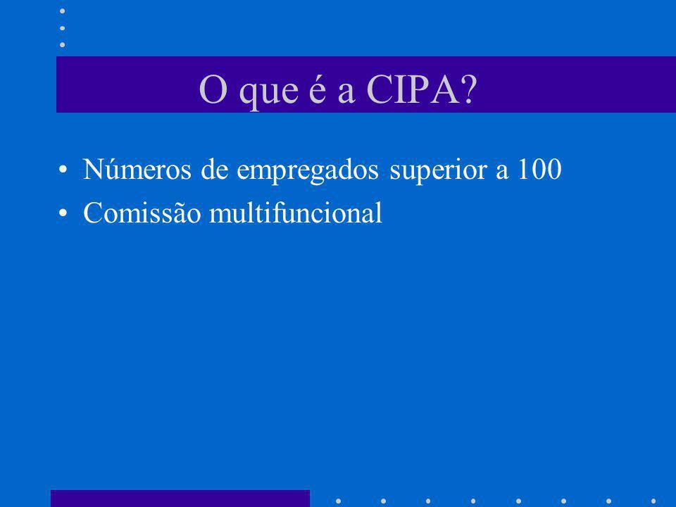 O que é a CIPA Números de empregados superior a 100