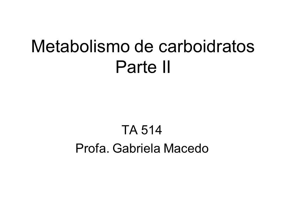 Metabolismo de carboidratos Parte II
