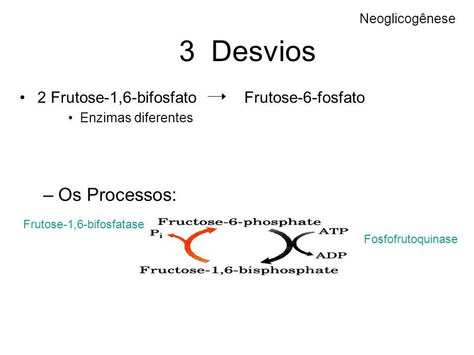 3 Desvios Os Processos: 2 Frutose-1,6-bifosfato Frutose-6-fosfato