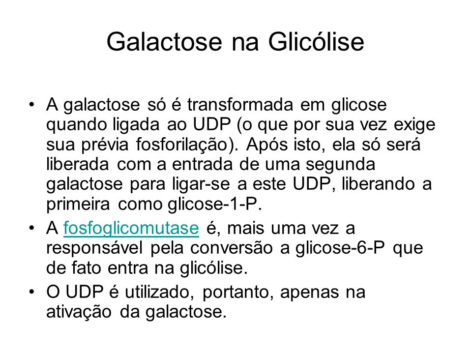 Galactose na Glicólise