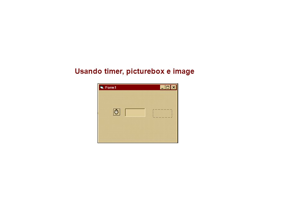 Usando timer, picturebox e image