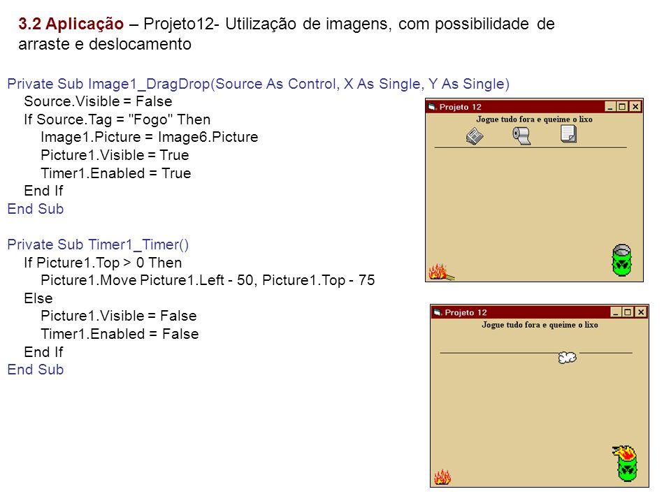3.2 Aplicação – Projeto12- Utilização de imagens, com possibilidade de arraste e deslocamento