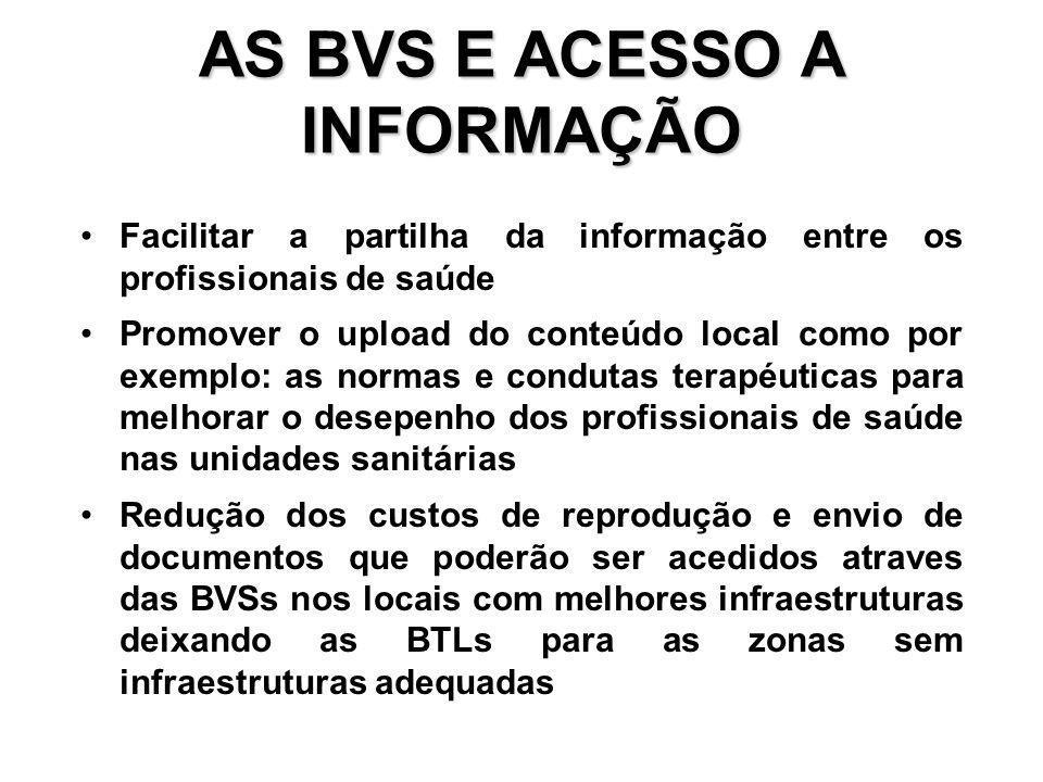 AS BVS E ACESSO A INFORMAÇÃO