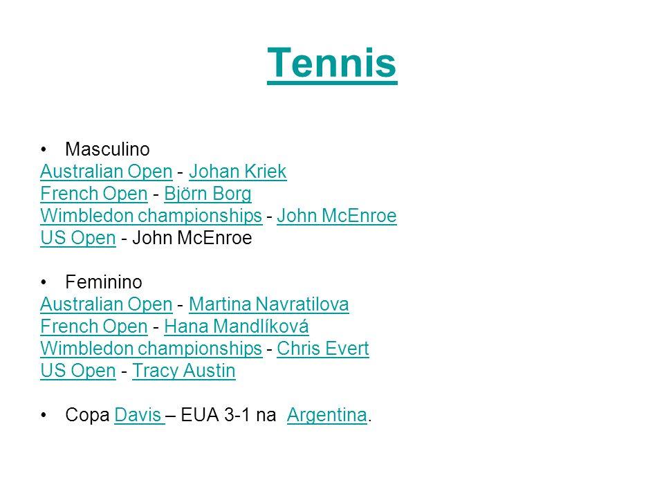 Tennis Masculino Australian Open - Johan Kriek
