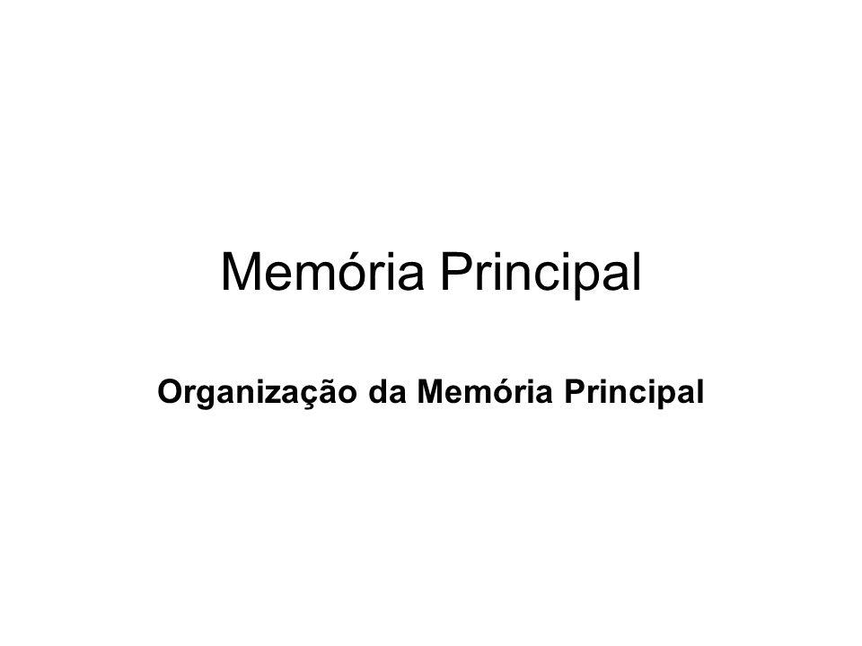 Organização da Memória Principal