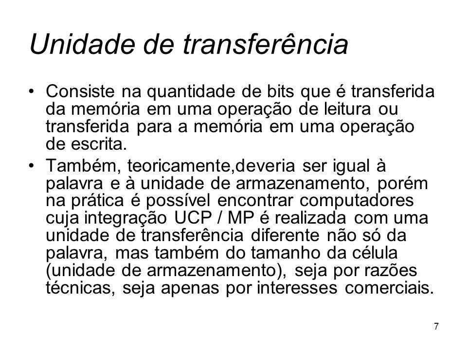 Unidade de transferência